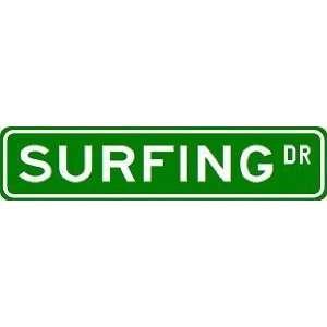 SURFING Street Sign ~ Custom Street Sign   Aluminum