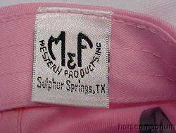 Ladies Pink Justin Boots Western Rhinestone Bling Lace Cap Hat