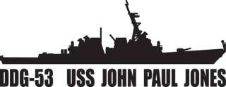 DDG 53 USS John Paul Jones Destroyer Vinyl Sticker