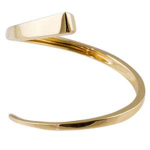 HERMES Estate 18K Gold Twisted Nail Bangle Bracelet