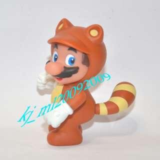 NEW Nintendo Super Mario Figure 10cm Tanooki Mario x 1pcs