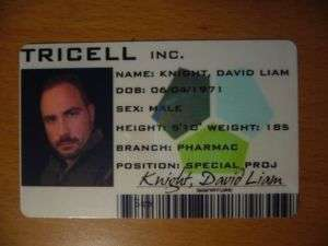 Resident Evil 5 Tricell ID Card Customize it! RE5 Prop