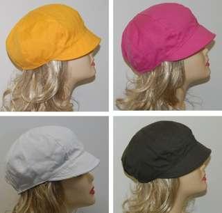 NEWSBOY BERET lady Riding CAP HAT JOCKEY Cotton 4Colors