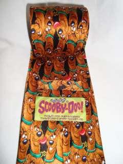 Scooby Doo Dog Silk TIE Cartoon Network Brown Green 57