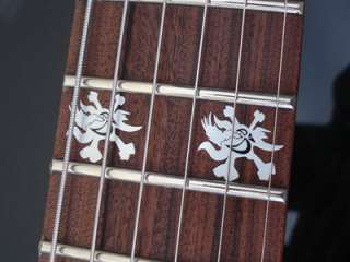SCARY SKULL Vinyl Guitar Decal Inlay Set