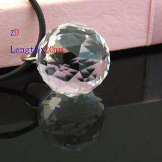 c9674 Sparking Clear Sphere Faceted Bead Crystal Glass Pendant