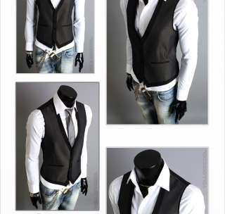 Youlookcool Mens Fashion Vintage Slim Fit Designer Casual Dress Vest