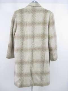 SIDNEY HABER Beige Wool Long Buttoned Coat Jacket Sz M