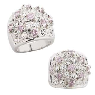 Big Dome Shape Encrusted Flower Ring Size 6 7 8 9 or 10