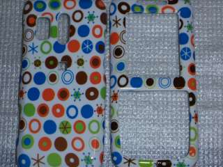 R451c Straight Talk Phone Cover Colorful Dots Stars Circles on White