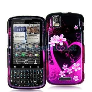 Purple Love Hard Skin Case Cover for Motorola Droid Pro