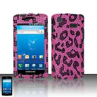 Pink Leopard Bling Case Cover Samsung Captivate i897