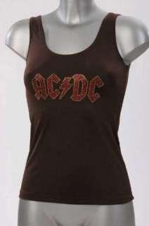 AC/DC Tank Top, Damen, Strass Applikation AC/DC