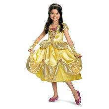 Disney Princess Belle Deluxe Shimmer Halloween Costume   Child Size