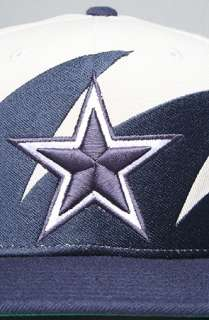 Mitchell & Ness The Dallas Cowboys Sharktooth Snapback Hat in Blue