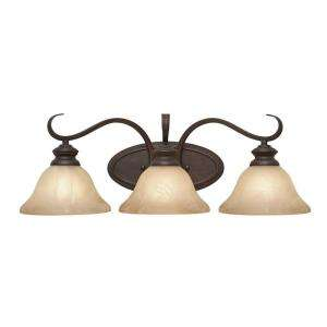 Illumine 3 Light Bath Fixture Antique Marbled Glass Rubbed Bronze