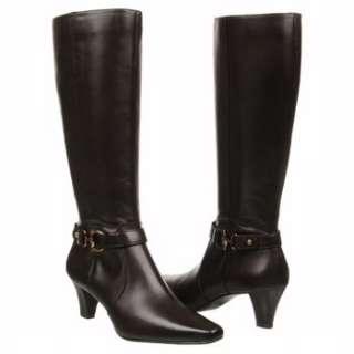 Womens AK Anne Klein Gauge Black Leather Shoes