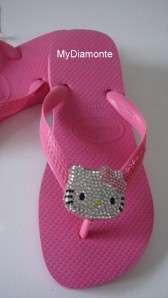 Havaianas Thongs Featuring Hello Kitty Swarovski Crystals HK2