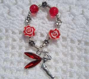 Red Tinkerbell Fairy ☆ CHARM BRACELET 4 REBORN BABY DOLL OOAK