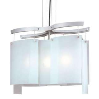 Hampton Bay 3 Light Brushed Nickel Pendant  DISCONTINUED HD315489 at