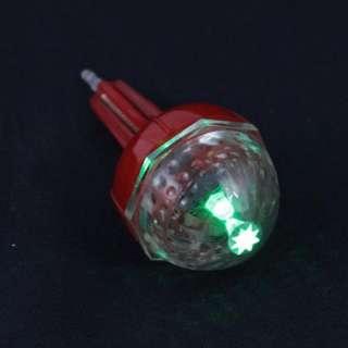 2pcs LED Fising Bobber Light In Dark Floats Lures Alarm (Green Wait