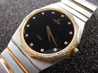 Concord Mariner SG Steel Gold Diamond Bezel/Dial Watch