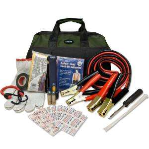 Emergency Road Side Safety and First Aid Kit 4310LL