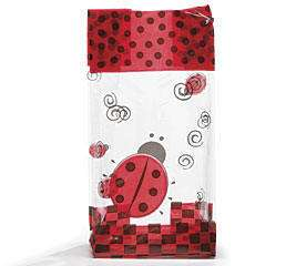 10 LADYBUG PARTY Treat Bags Cello Goody Favors Baby