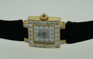 NEW CHAUMET LADIES YELLOW GOLD DIAMOND WATCH