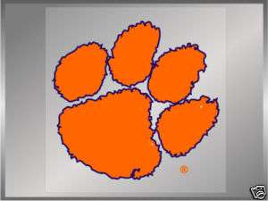 Clemson University Tigers Purple Paw static decal 5.5