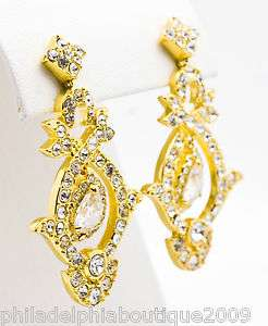 Kenneth Jay Lane KJL Princess Diana Wedding Day Crystal Earrings