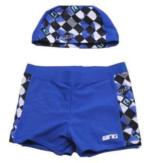 kid, boy swimwear swim suit pants +cap hat + goggles |