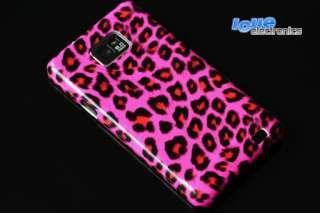Samsung Galaxy S2 i9100 LEOPARD Cover PINK +Display FOLIE Hülle