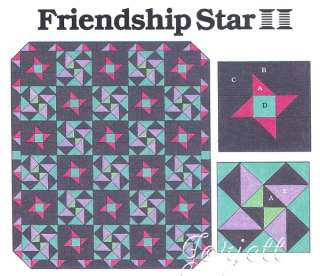 Friendship Star & Next Door Neighbor Quilt Blocks & Quilt patterns