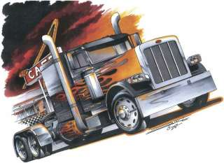 trucker shirt big rig diesel semi pinup girl truck driving t shirt. Black Bedroom Furniture Sets. Home Design Ideas