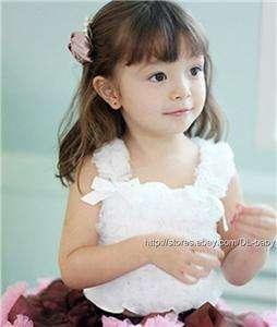 baby toddler Child kids chiffron fluffy tube petti top ruffled tutu
