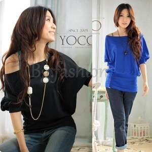Sexy Womens Trendy Batwing Short Sleeve OFF Shoulder Top T Shirt