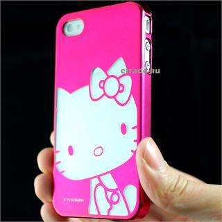 Cute Pink Hello Kitty Chrome Hard Case for iPhone 4S
