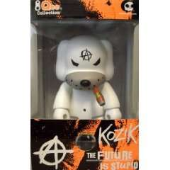 Qee Artist Collection 8 Inch   Kozik Anarchy dog White