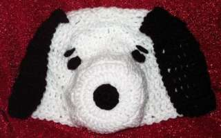 Boutique CUSTOM Crocheted SNOOPY the DOG Hat Beanie