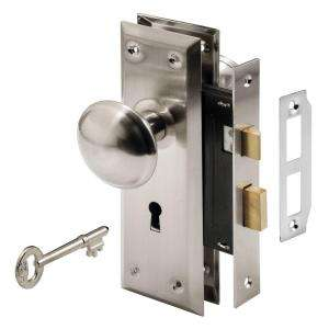 Prime Line Mortise Lock Set, Keyed, Nickel Plated Knobs E 2330 at The