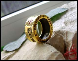 AJS © TEMPELRITTER 24K PL GOLD RING SIEGELRING   B15G