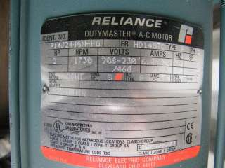 See Pictures below Reeves 1a2D Variable Speed Drive 2 HP 3ph 208230v