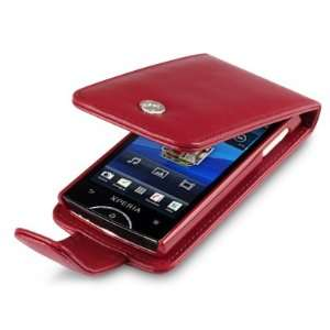 SONY ERICSSON XPERIA RAY HANDY LEDER TASCHE CASE HÜLLE IN ROT