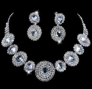 wedding bridal rhinestone crystal bridal evening lariat necklace