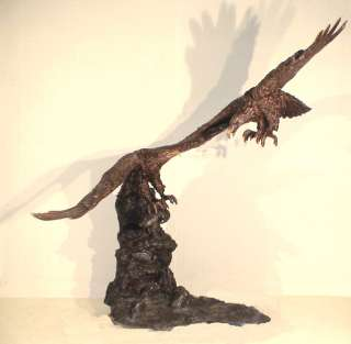 Large Cast Bronze Outdoor Eagle Water Fountain