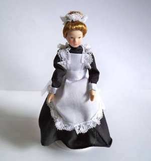 12   Porzellan Puppenhaus Dienstmädchen Bedienung