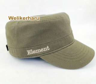 Element Military Black Or Olive STYLE FLAT CAP HAT