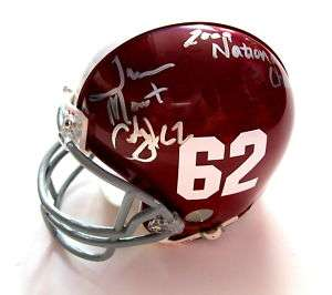 TERRENCE CODY SIGNED ALABAMA TIDE MINI HELMET JSA COA