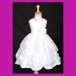 WHITE BAPTISM CHRISTENING COMMUNION BRIDAL FLOWER GIRL DRESS 6M 9M 2 4